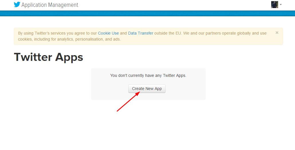 Crear Twitter App